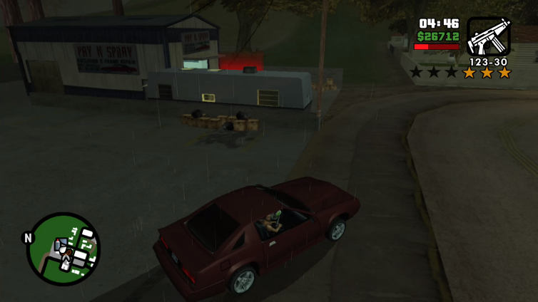 Sexxy playing Grand Theft Auto: San Andreas