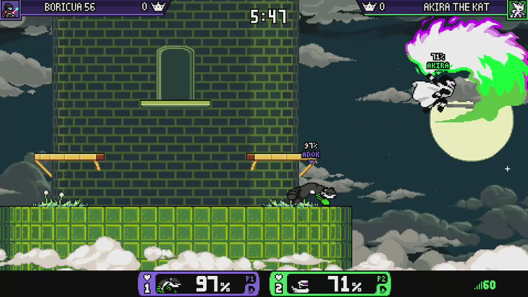 Akira The Kat playing Rivals of Aether