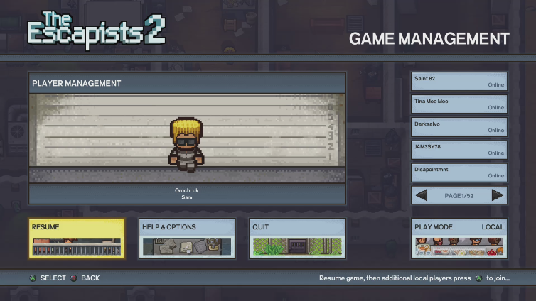 Orochi uk playing The Escapists 2